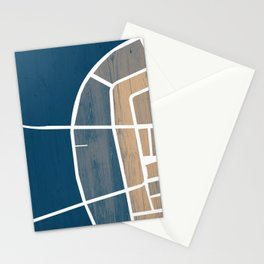 Luxembourg City Map Stationery Cards