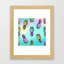Pineapple Glow Framed Art Print
