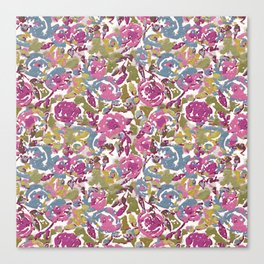 Painted Abstract Florals Canvas Print