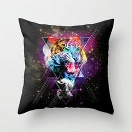 Cosmic Tiger 2 Throw Pillow