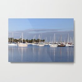 Biscayne Bay Sailboats Metal Print