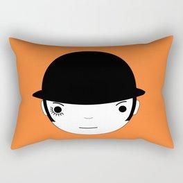 Clocky orange Rectangular Pillow