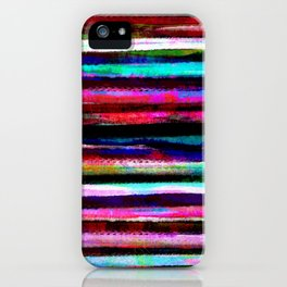 bohemian colorful pattern iPhone Case
