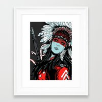 hunter Framed Art Prints featuring Hunter by Filipe Survival