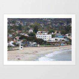 Main Beach Laguna  Art Print