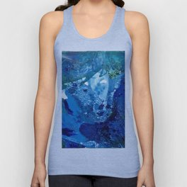 Environmental Blue Leaves, Tiny World Collection Unisex Tank Top