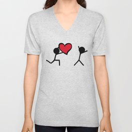 I love you by Oliver Henggeler Unisex V-Neck