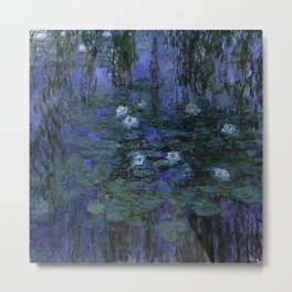Blue Water Lilies Monet 1916- 1919 Metal Print