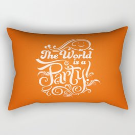 The World is a Party Rectangular Pillow