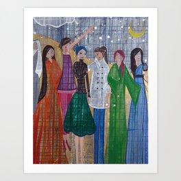 Desert Women Art Print