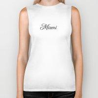 miami Biker Tanks featuring Miami by Blocks & Boroughs