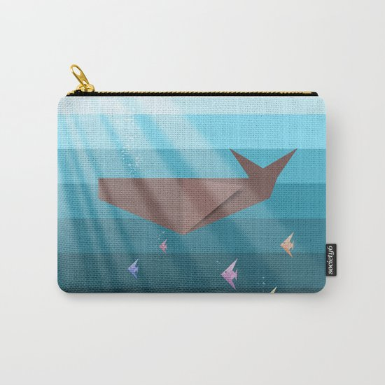 LIVING SEA (origami animals whales) Carry-All Pouch