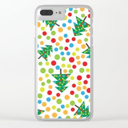Pattern circle multi color Clear iPhone Case