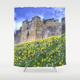York City Walls Shower Curtain