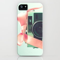 Retro Camera and Pink Bow II iPhone (5, 5s) Slim Case