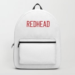 100% Redhead Red Hair Redheads Ginger Gift Backpack
