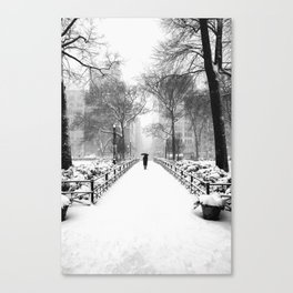NYC Snow Day – Union Square Blizzard New York Canvas Print
