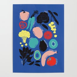 Eat more fruit and veggies Poster