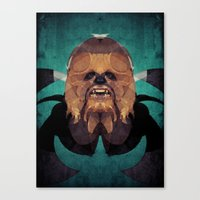 chewbacca Canvas Prints featuring Chewbacca by lazylaves