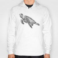 sea turtle Hoodies featuring Sea Turtle by Laura Hines