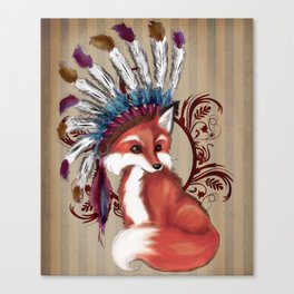 The Fox Chief Canvas Print