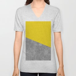 Geometry 101 Vivid Yellow Unisex V-Neck