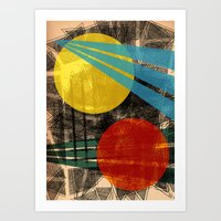 - abstract sunset - Art Print