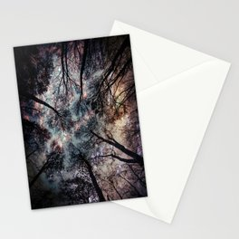Starry Sky in the Forest Stationery Cards