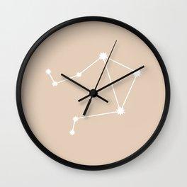Libra Zodiac Constellation - Warm Neutral Wall Clock