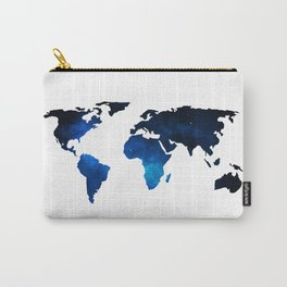 World Map Space Planet Blue Carry-All Pouch