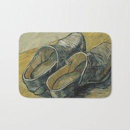 Vincent Van Gogh  - A pair of leather clogs Bath Mat