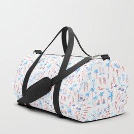 beach club pattern Duffle Bag