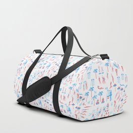 beach club pattern Duffle Bag