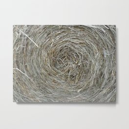 Round Bale Metal Print