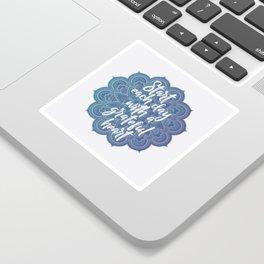 Gratitude Mandala Sticker