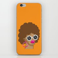 afro iPhone & iPod Skins featuring Afro by Zenga N
