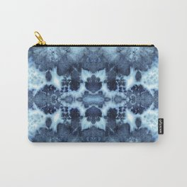 Tie-Dye Damask Blue Carry-All Pouch