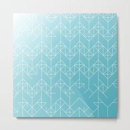 geometric turqoise Metal Print