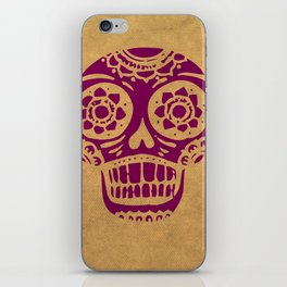 Inca Skull Cornsilk Darkviolet iPhone Skin