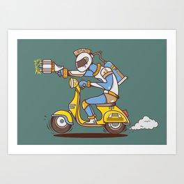 Space Scooterman Art Print