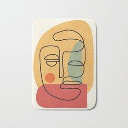 Abstract Face 20 Bath Mat