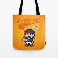 earthbound Tote Bags featuring Earthbound & Down by Jango Snow