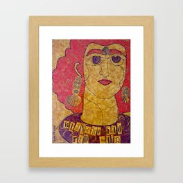 Blanche Had Red Hair (Blanche No. 2) Framed Art Print
