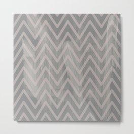 Mauve pink geometric watercolor chevron brushstrokes Metal Print