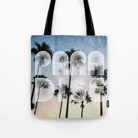 paradise Tote Bags featuring PARADISE by RichCaspian