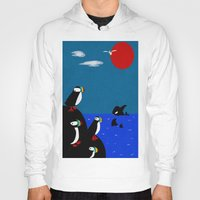 puffin Hoodies featuring Puffin Rock by V.L. Durand