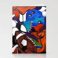 sports Stationery Cards featuring Sports Fans by Jake Dorr