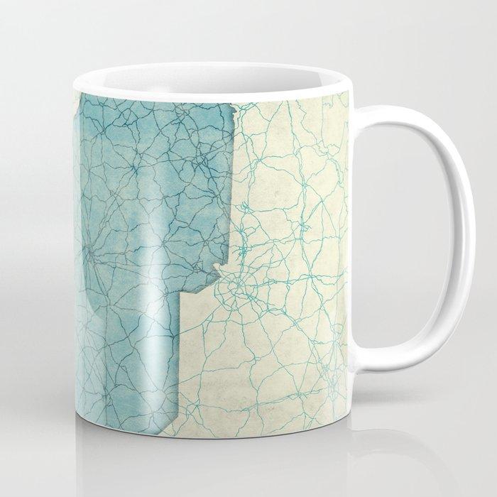South Carolina State Map Blue Vintage Coffee Mug
