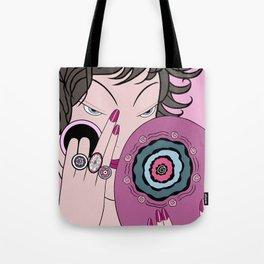 CORRINE: Art Deco Lady - PARISIAN PINK Tote Bag