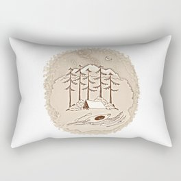 Adventuring (vintage) Rectangular Pillow